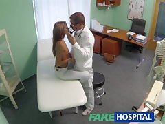 FakeHospital Spying on hot young babe having special treatment outlander hammer away doctor pov creampie