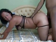 Latin milf gets an anal creampie