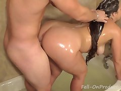 Madisin Lee in Fuckin Wash My Hair. MILF get fucks while getting hair uninfected