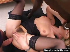 Slutty Milf Get Wrecked Everywhere A Gangbang