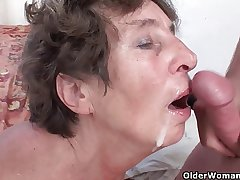 Hairy granny loves anal sexual relations