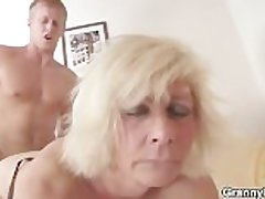 German granny fucks unending