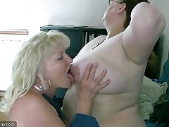 OldNanny Sexy heavy mature coupled with bbw granny