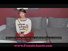 FemaleAgent Slow-witted longhair tastes pussy