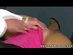 Hot spoil gets facial through gloryhole and loves it