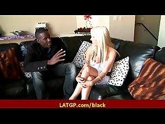 Interracial hard lovemaking Horny MILF beauty gets hard big black cock 15