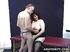 Old amateur clamp home action on every side cum on tits