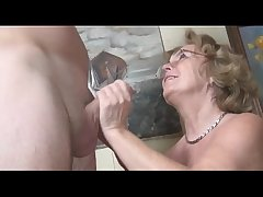 Pierced german granny getting fucked hard by a young supplicant