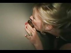Mature wife, Faith, takes bbc on tap gloryhole