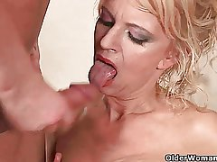 Inch by inch sexed granny makes her toy boy cum on her manifestation