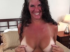 Texas MILF with big tits tan lines