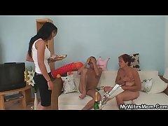 Old strumpet seduces her daughter's tramp
