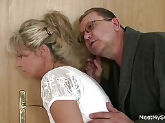 Guy leaves and parents soft-soap his yummy GF