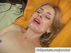 Sexy mature spoil Pandora enjoys a facial cumshot
