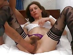 wizened french hairy mature deeply fisted and sodomized
