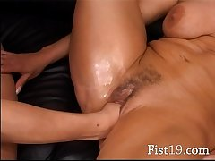Blonde mature having cunt fisted permanent