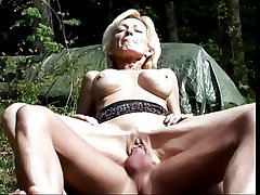 Of age blonde sucks cock and gets fucked