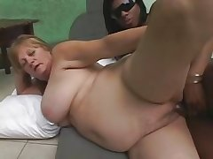Ebony Tranny fucks Blonde Adult
