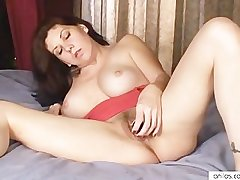 Busty mom loves toys in Victorian pussy
