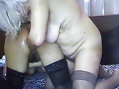 2 grannies bringing off