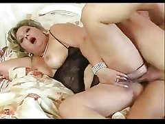 Horny chubby adult loves her bore fucked