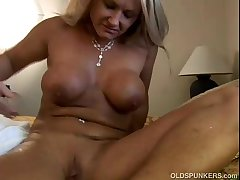 Exciting mature tow-headed Roxy loves beside fuck younger guys