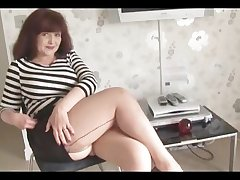 Big tits mature bluntly main with an increment of stockings