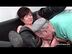 Amateur grown-up abiding DP and facialized all over 3way with Papy Voyeur