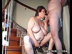 Chubby amateur fit together toys and sucks and gets fucked