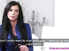 FemaleAgent Amazingly sexy with talent respecting make up for