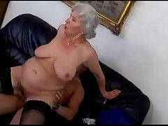 granny Norma fucks boy