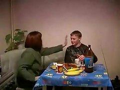 Russian Mature Mammy and Son Making love