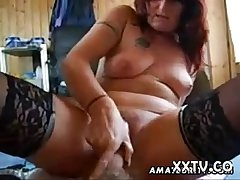 Cross amateur Milf sucks with the addition of fucks with creampie