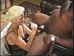 Blonde matured granny down underclothing loves sucking on a big fast black detect