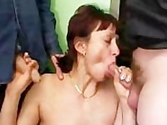 Russian Filth Mature Coupled with Varied Dicks