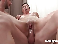 French mature constant fist fucked and double penetrated