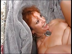 Mature Redhead Enjoys Young Load of shit