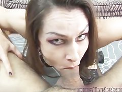 Newbie MILF Nora Noir gives primary porn deep throat