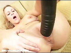 Busty milf hard to believe by brutal dildo