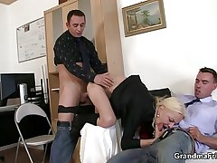 She sucks together with fucks two cocks on tap venture interview