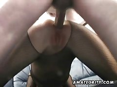 Layman Milf homemade anal with creampie