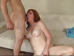 Redhead grown up got her pussy creampied