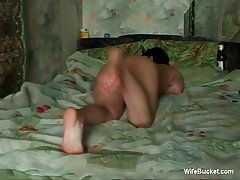 anal and creampie alongside someone's skin wife