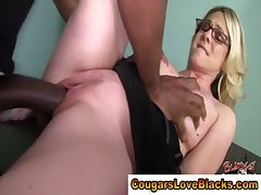 Horn-mad interracial of age bitch gets a creampie