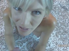 Flaxen-haired MILF Jolene takes some Hawkshaw coupled with gets a creampie