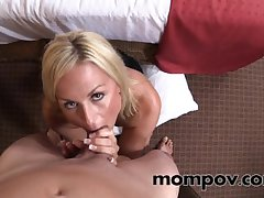 Sexy blonde milf gets a plummy pie