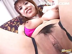 Mr Big Asian Pussy Vibrated Increased by Rations A Cum Covered Snack